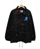 NALUTO TRUNKS for RHC(ナルトトランクスフォーアールエイチシー)の古着「ペイントコーチジャケット」|ブラック