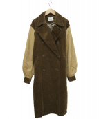 Ungrid(アングリッド)の古着「コーデュロイコンビトレンチコート」|ベージュ