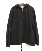 have a good time(ハヴアグッドタイム)の古着「フード付デニムジャケット」|ブラック