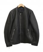 LIDnM(リドム)の古着「ライダースジャケット」 ブラック