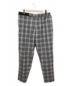 Graphpaper(グラフペーパー)の古着「20AWFine Wool Check Chef Pants」|グレー×オレンジ