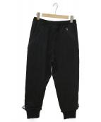 Y-3(ワイスリー)の古着「16AW GRAIN JERSEY PANTS」|ブラック