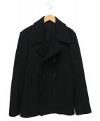 LITHIUM HOMME(リチウム オム)の古着「HEAVY MELTON SHORT PEA COAT」|ブラック