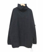 COMOLI(コモリ)の古着「18AWウールジャージ プルオーバー」 チャコールグレー