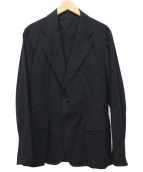 YohjiYamamoto pour homme(ヨウジヤマモトプールオム)の古着「袖ロゴ刺繍2ボタンジャケット」|ブラック