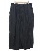 YohjiYamamoto pour homme(ヨウジヤマモトプールオム)の古着「E-刺繍カラスパンツ」|ブラック