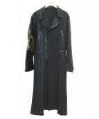 YohjiYamamoto pour homme(ヨウジヤマモトプールオム)の古着「抜染ダブルライダースロングフレアドレス」|ブラック
