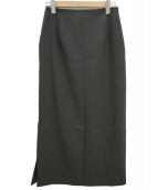 IENA(イエナ)の古着「メランジタイトスカート」 ブラウン