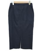 DOLLY SEAN(ドーリーシーン)の古着「アサコンオックスタイトスカート」|ネイビー