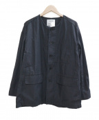 FRAMeWORK(フレームワーク)の古着「バックサテンカバーオール」|ブラック