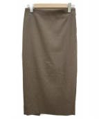 RIAM-PLAGE(リアムプラージュ)の古着「バックシャン ストレッチタイトスカート」 ブラウン