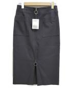 Noble(ノーブル)の古着「ダブルクロスフープジップタイトスカート」 グレー