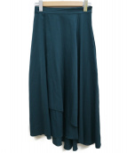 GALLARDA GALANTE(ガリャルダガランテ)の古着「ピーチアシメスカート」|グリーン