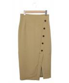 GALLARDA GALANTE(ガリャルダガランテ)の古着「タイトスカート」|ベージュ