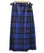 ONEIL OF DUBLIN(オニール オブ ダブリン)の古着「ロングキルトスカート」|ブルー