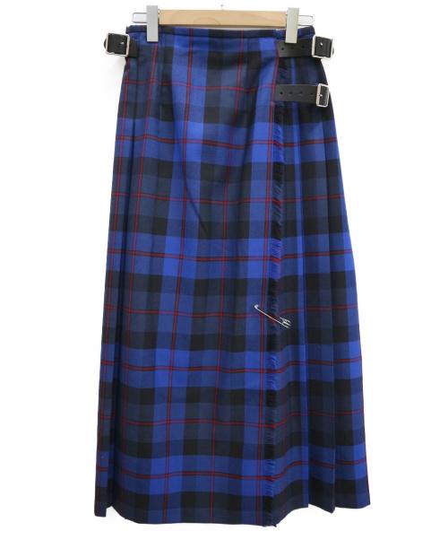 ONEIL OF DUBLIN(オニール オブ ダブリン)ONEIL OF DUBLIN (オニール オブ ダブリン) ロングキルトスカート ブルー サイズ:US6 12491-20Aの古着・服飾アイテム