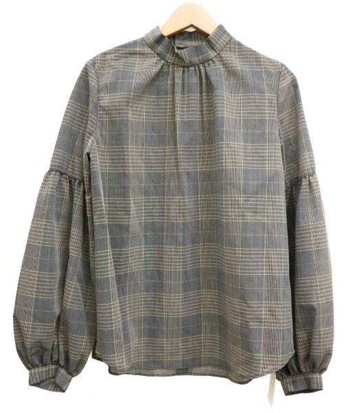 IENA(イエナ)IENA (イエナ) T/Wシアーボリュームスリーブブラウス ブラウン サイズ:F 未使用品の古着・服飾アイテム