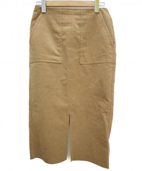 Spick and Span(スピックアンドスパン)Spick and Span (スピックアンドスパン) スリットタイトスカート ブラウン サイズ:38の古着・服飾アイテム