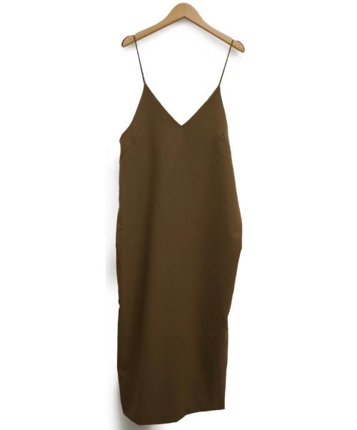 IENA(イエナ)IENA (イエナ) T/Wメランジキャミワンピース ブラウン サイズ:38の古着・服飾アイテム