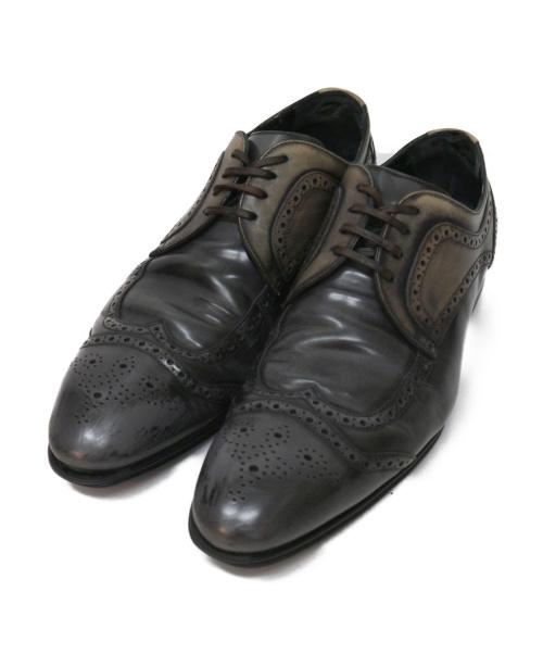 DOLCE & GABBANA(ドルチェアンドガッバーナ)DOLCE & GABBANA (ドルチェアンドガッバーナ) ウィングチップシューズ グレー サイズ:7 1/2の古着・服飾アイテム