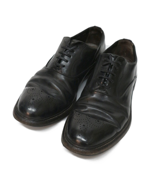 DOLCE & GABBANA(ドルチェアンドガッバーナ)DOLCE & GABBANA (ドルチェアンドガッバーナ) メダリオンシューズ ブラック サイズ:7 1/2の古着・服飾アイテム