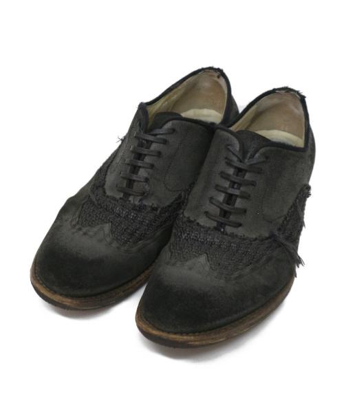 DOLCE & GABBANA(ドルチェアンドガッバーナ)DOLCE & GABBANA (ドルチェアンドガッバーナ) ウィングチップ切替シューズ ブラック サイズ:8の古着・服飾アイテム