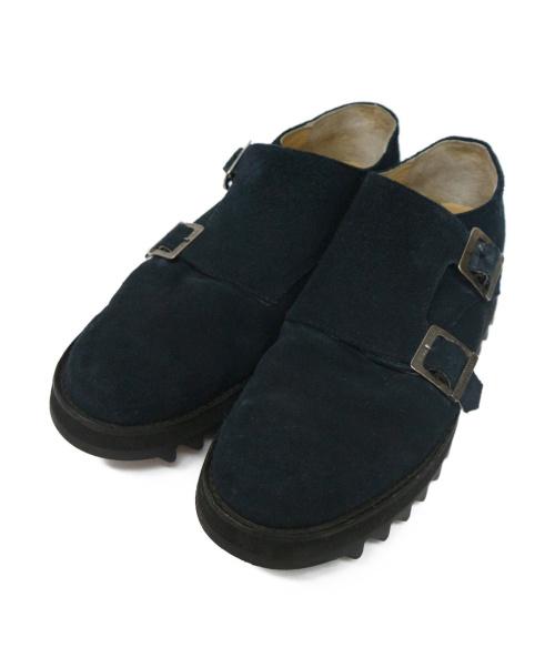 Caminando(カミナンド)Caminando (カミナンド) Double Monk Ripple Shoes ネイビー サイズ:10の古着・服飾アイテム