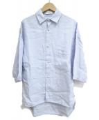 MADISON BLUE(マディソンブルー)の古着「パールボタンS/Sリネンシャツ」|ブルー