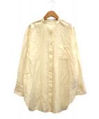 FRAMeWORK(フレームワーク)の古着「Co/Si シアーシャツ」|ベージュ