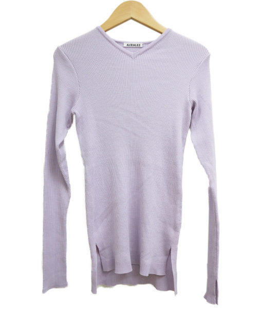 AURALEE(オーラリー)AURALEE (オーラリー) RIB KNIT V-NECK P/O ピンク サイズ:1 A9AV02TRの古着・服飾アイテム