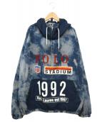 POLO RALPH LAUREN(ポロラルフローレン)の古着「スタジアムインディゴポップオーバージャケット」|インディゴ