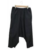 BLACK COMME des GARCONS(ブラックコムデギャルソン)の古着「サイドラインサルエルパンツ」 ブラック