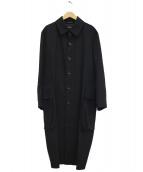 tricot COMME des GARCONS(トリコ コムデギャルソン)の古着「ウールステンカラーコート」|ブラック