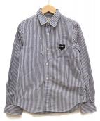 PLAY COMME des GARCONS(プレイコムデギャルソン)の古着「ストライプシャツ」|ホワイト×ブルー