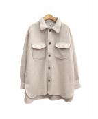 自由区(ジユウク)の古着「マシュマロフリースCPOシャツ」|アイボリー