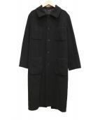 Ys(ワイズ)の古着「ウールステンカラーコート」 ブラック