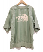 THE NORTHFACE PURPLELABEL(ザノースフェイスパープルレーベル)の古着「H/S CREW NECK/T」|カーキ