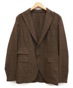 eleventy(イレブンティ)の古着「チェンジポケットグレンチェックジャケット」 ブラウン