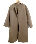 Mila Owen(ミラオーウェン)の古着「接結ディティールノーカラーコート」|ブラウン