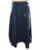 adidas(アディダス)の古着「サイドラインスカート」 ネイビー