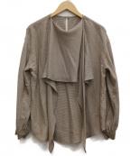 FRAMeWORK()の古着「ボウタイブラウス」|ブラウン