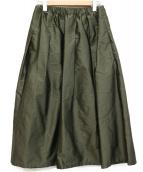 IENA(イエナ)の古着「AIDAタフタギャザースカート」|カーキ