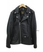 VANSON(バンソン)の古着「カウレザーライダースジャケット」|ブラック