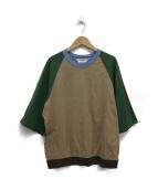 SUNSEA(サンシー)の古着「トレックTシャツ」|ベージュ