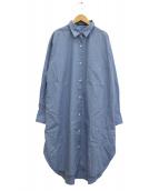 AP STUDIO(エーピーストゥディオ)の古着「オーバーシャツワンピース」|ブルー