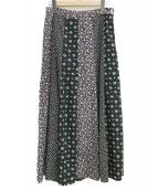 SLOBE IENA(スローブイエナ)の古着「マルチフラワーパネルスカート」|ブラック
