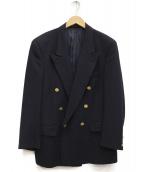 Burberrys(バーバリーズ)の古着「金釦ダブルテーラードジャケット」|ネイビー