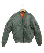AVIREX(アヴィレックス)の古着「MA-1ジャケット」 カーキ