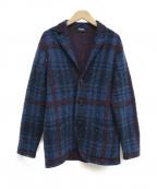 Drumohr(ドルモア)の古着「3Bニットジャケット」|ネイビー