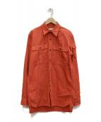 DRIES VAN NOTEN(ドリスヴァンノッテン)の古着「長袖シャツ」|レッド
